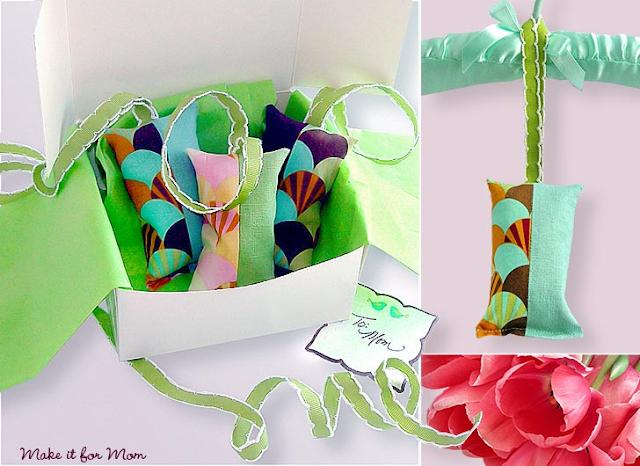 Sacchetti profuma biancheria da riciclo creativo stoffa