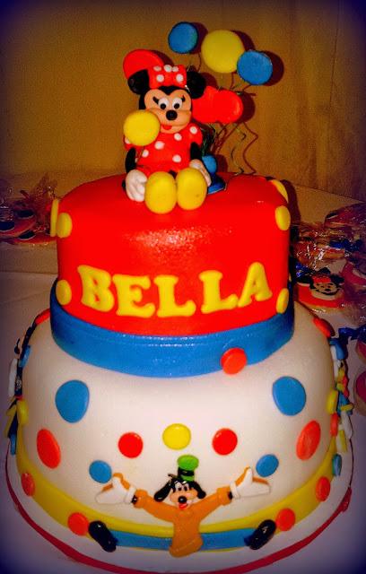 fondant Mickey cake
