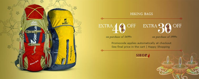 Hiking Bags Discounted Prices+ Extra 30-40% discount