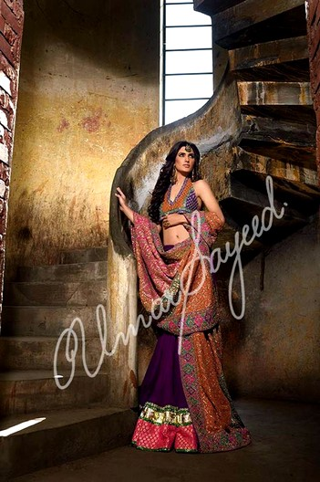 Umar Sayeed Ghagra And Chooli Collection 2015-2016