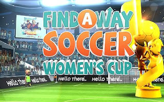 Screenshots of the Find a way soccer: Women's cup for Android tablet, phone.