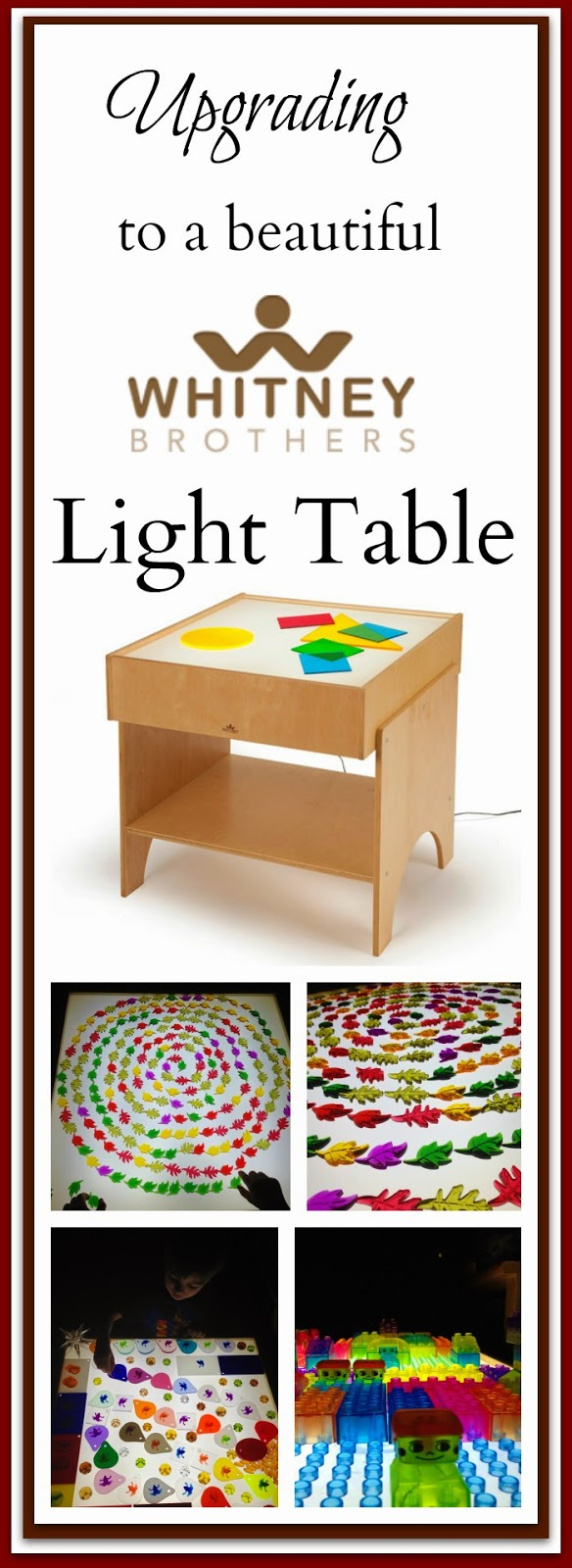 light table by Whitney Brothers