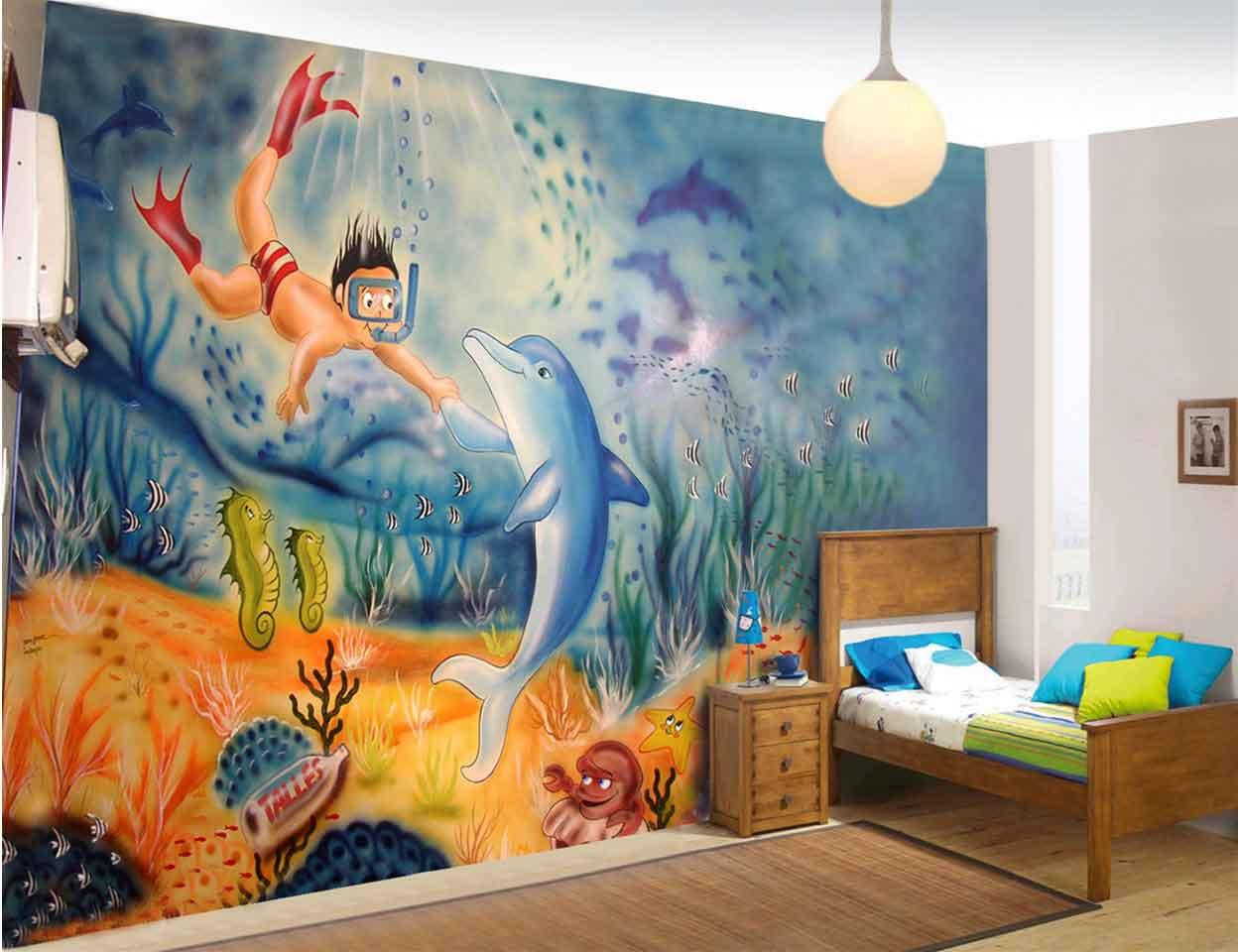 Grafite em parede pintura em parede 21 3606 1760 - Pintura infantil pared ...