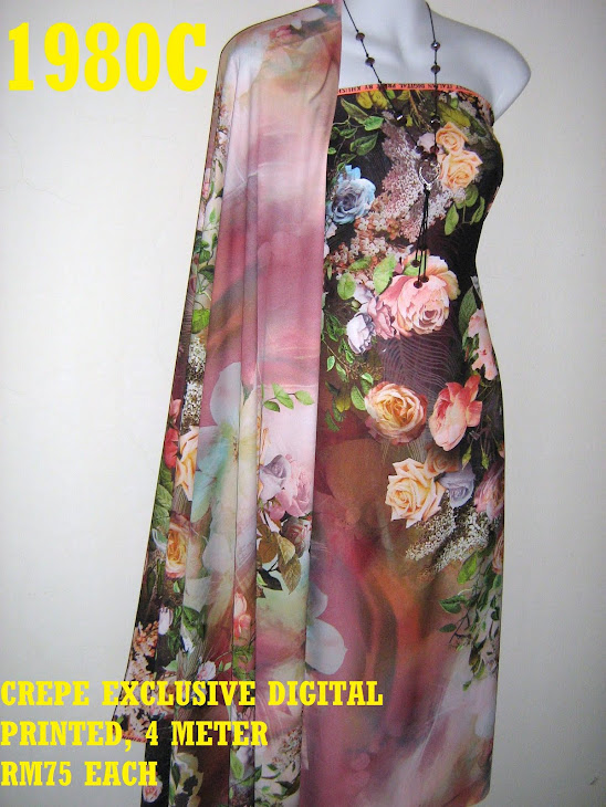 CDP 1980C: CREPE EXCLUSIVE DIGITAL PRINTED, 4 METER