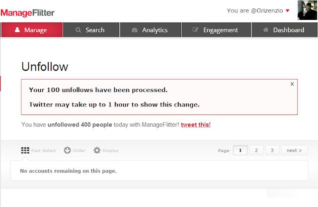 Cara Mengetahui dan Delete No Following Back di Twitter