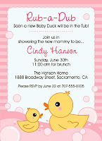 Bunny prints rubber duck baby shower invitation rubber duck baby shower invitation filmwisefo Gallery