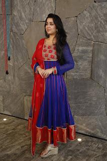 Actress Charmi Kaur Pictures in Salwar Kameez at Jyothi Lakshmi Movie Interview    (24)