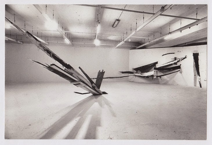 Kuno Lindenmann, Installation, Kunstforum, Städt. Galerie im Lenbachhaus, München, 1982