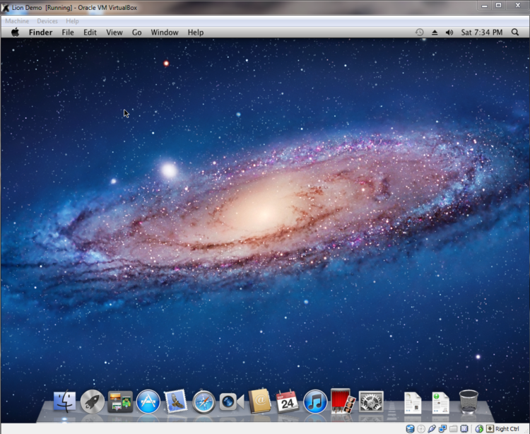 1024x768 OS X Mountain Lion Galaxy desktop PC and Mac wallpaper