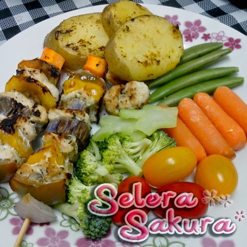 Menu Sihat: Juicy Chicken Kabobs