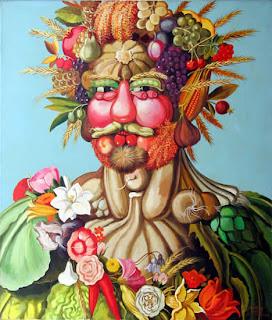 giuseppe archimboldo comida creativa creatividad alimentacion verdura fruta arte cinquecento oleo lienzo pintura