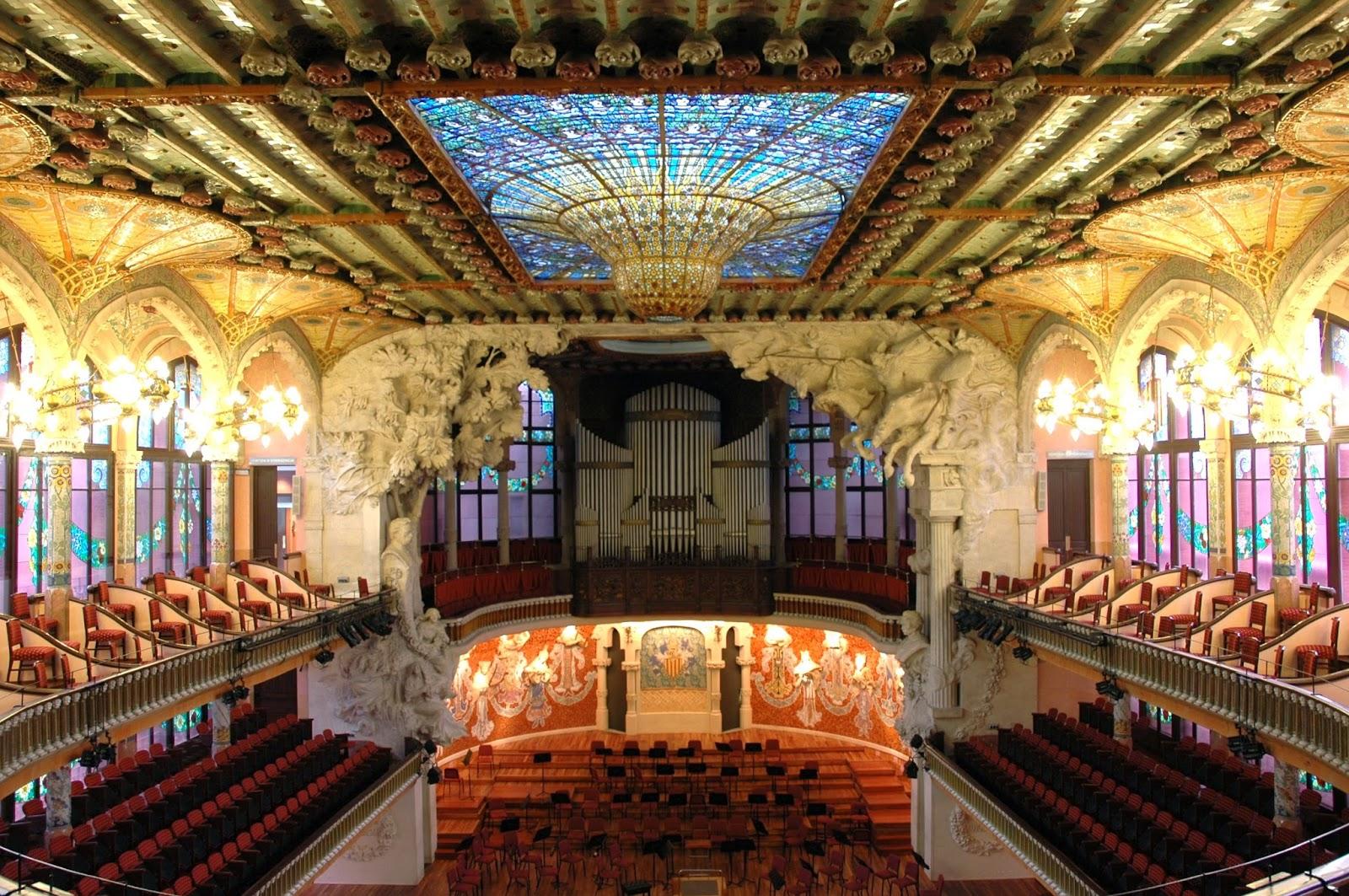 Sala de concerts del Palau de la música de Barcelona