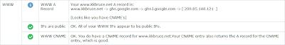 intoDNS kkbruce.net WWW記錄測試結果