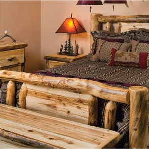 Hand crafted log furniture. Perfect for any cottage or home. Available from Pinewood.