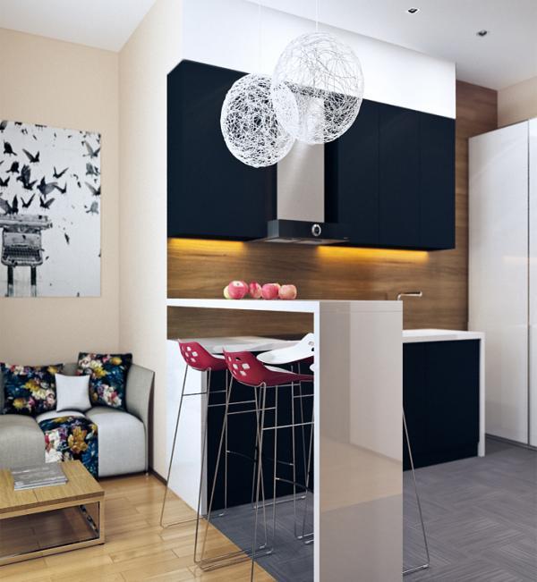 desain kombinasi dapur dan ruang makan modern rancangan
