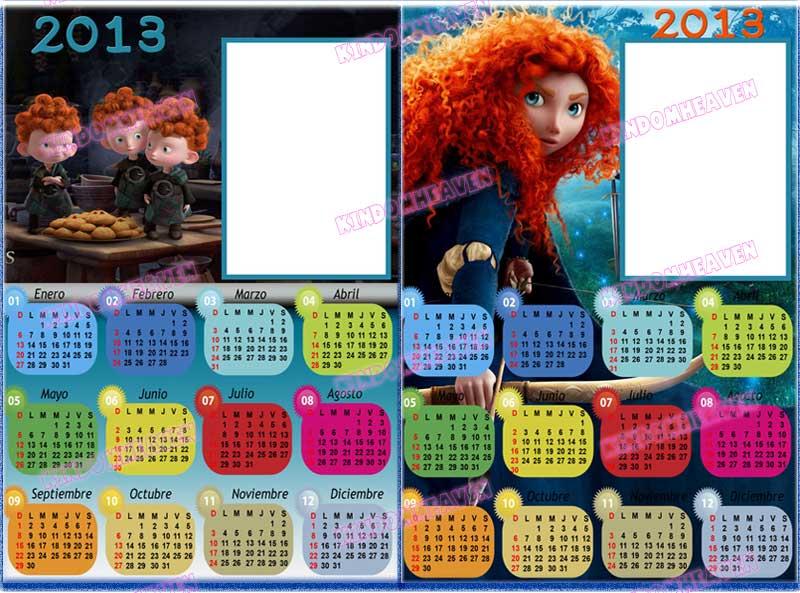 calendarios 2013 infantiles para imprimir
