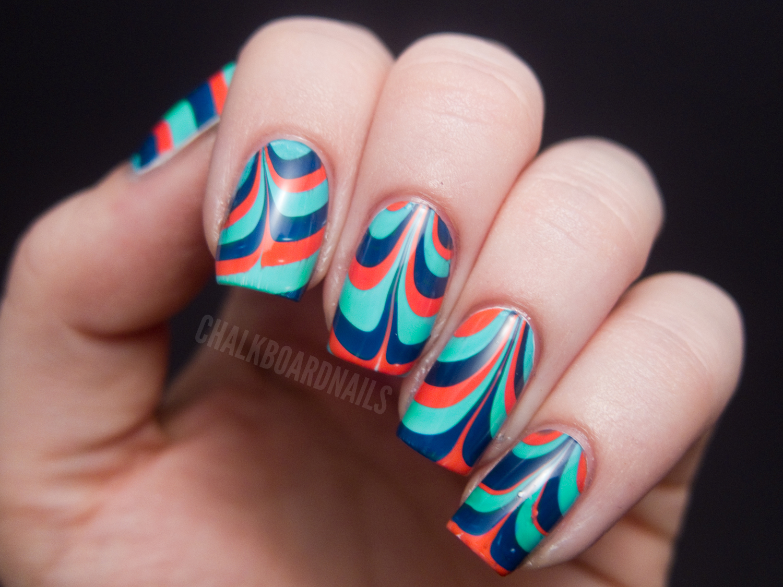 Monday Marble | Chalkboard Nails | Nail Art Blog