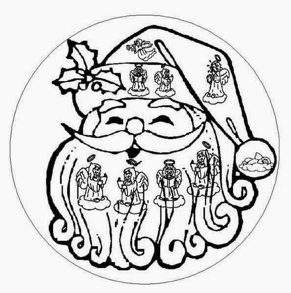 download 115 santa claus christmas beginner mandala coloring pages special for you