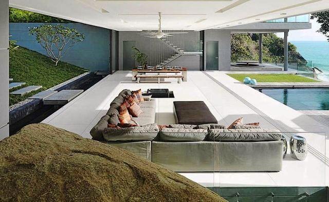 porche minimalista casa tailandia