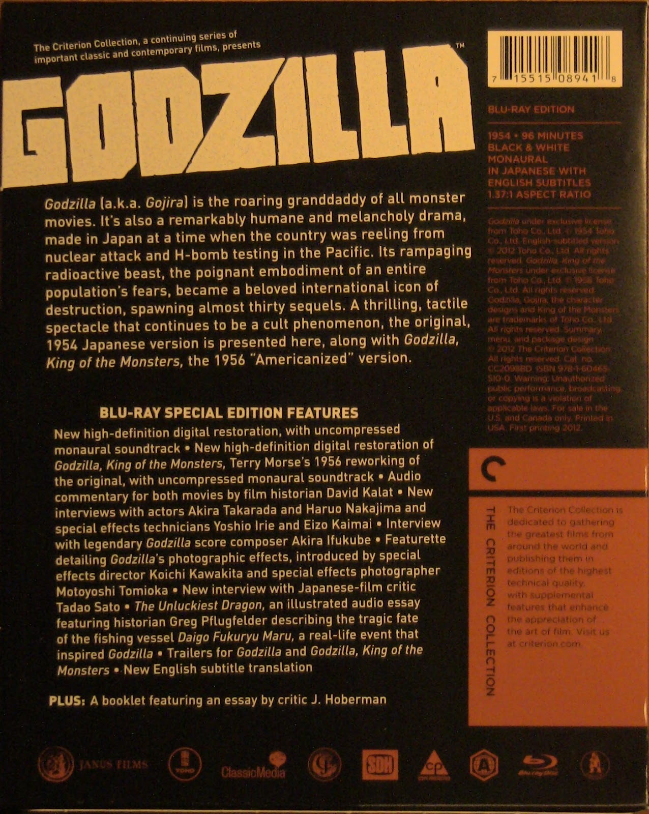 the cinemologists godzilla criterion blu ray review essay on the real life tragedy that inspired the film a look at godzilla s standing in ese culture at the time of the film s release