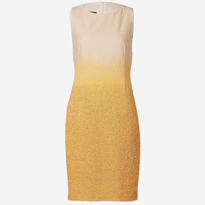 Neiman Marcus- Akris Yellow Embroidered Dress