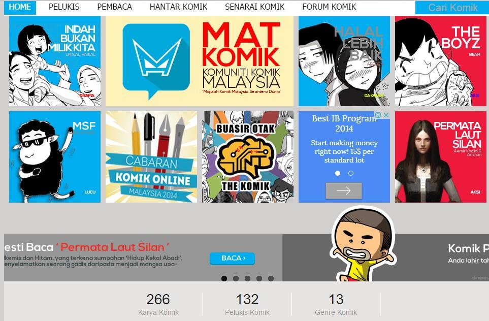 Cara Membaca Komik Malaysia Online Secara Percuma