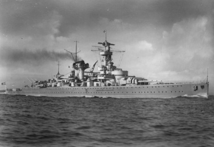 Cuirasatul Deutschland Kriegsmarine WW2
