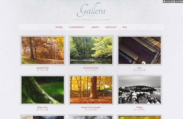 Gallera - Photo Gallery/Portfolio Theme for Tumblr