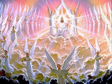 Jesus e seus anjos