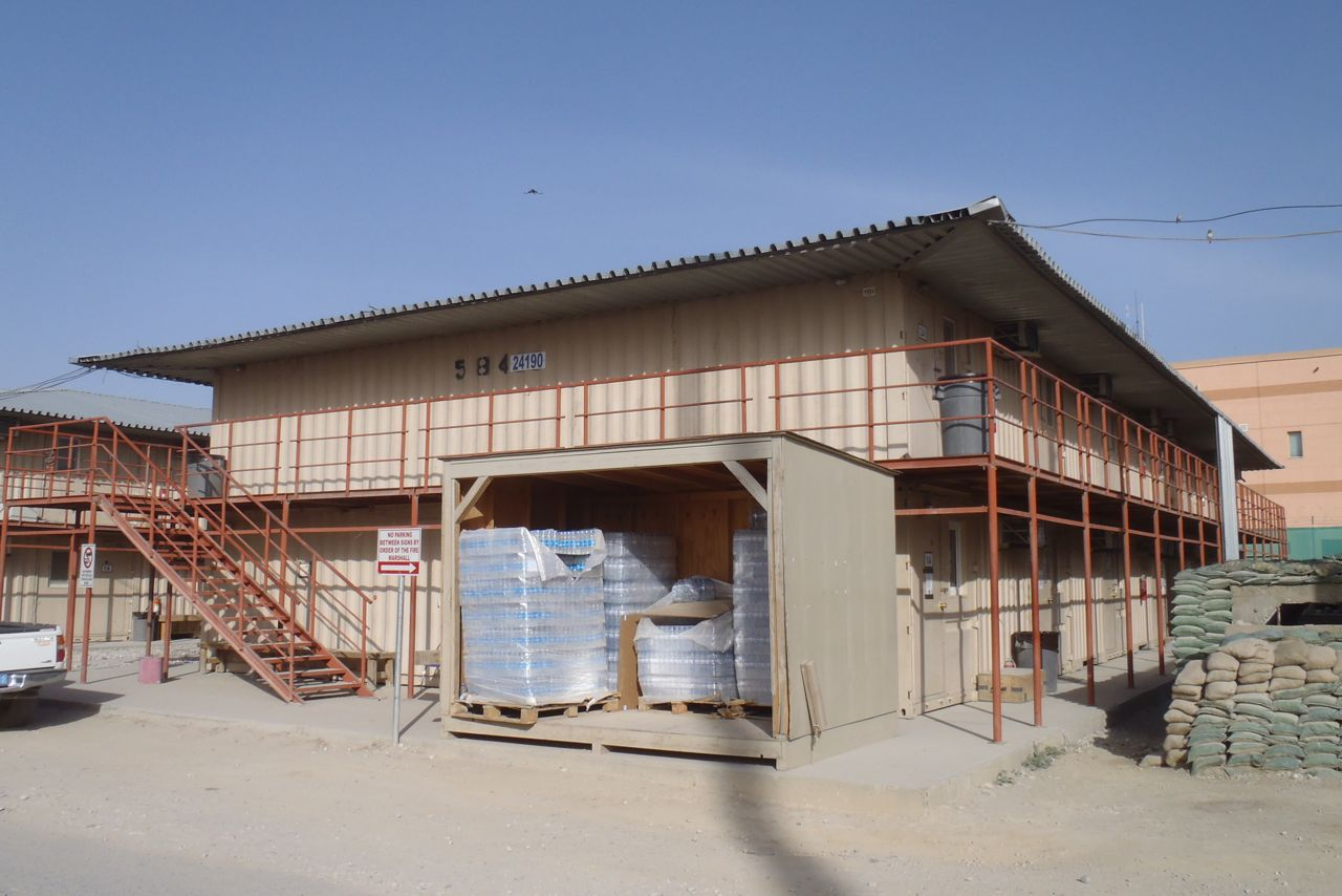 Bagram air base living quarters for Consul container