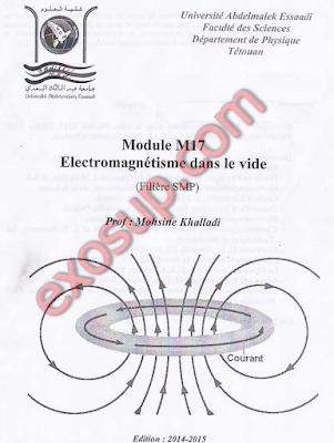 fs Tétouan cours électromagnétisme dans le vide
