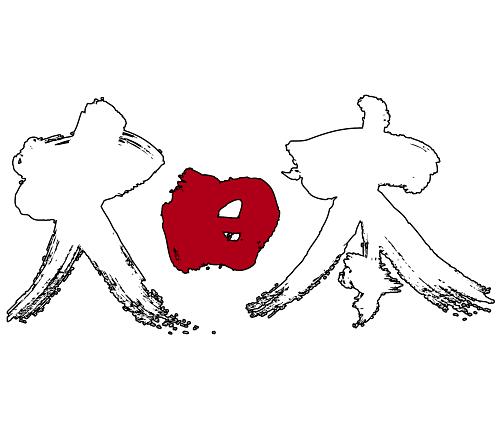 Japan in brushed Kanji calligraphy