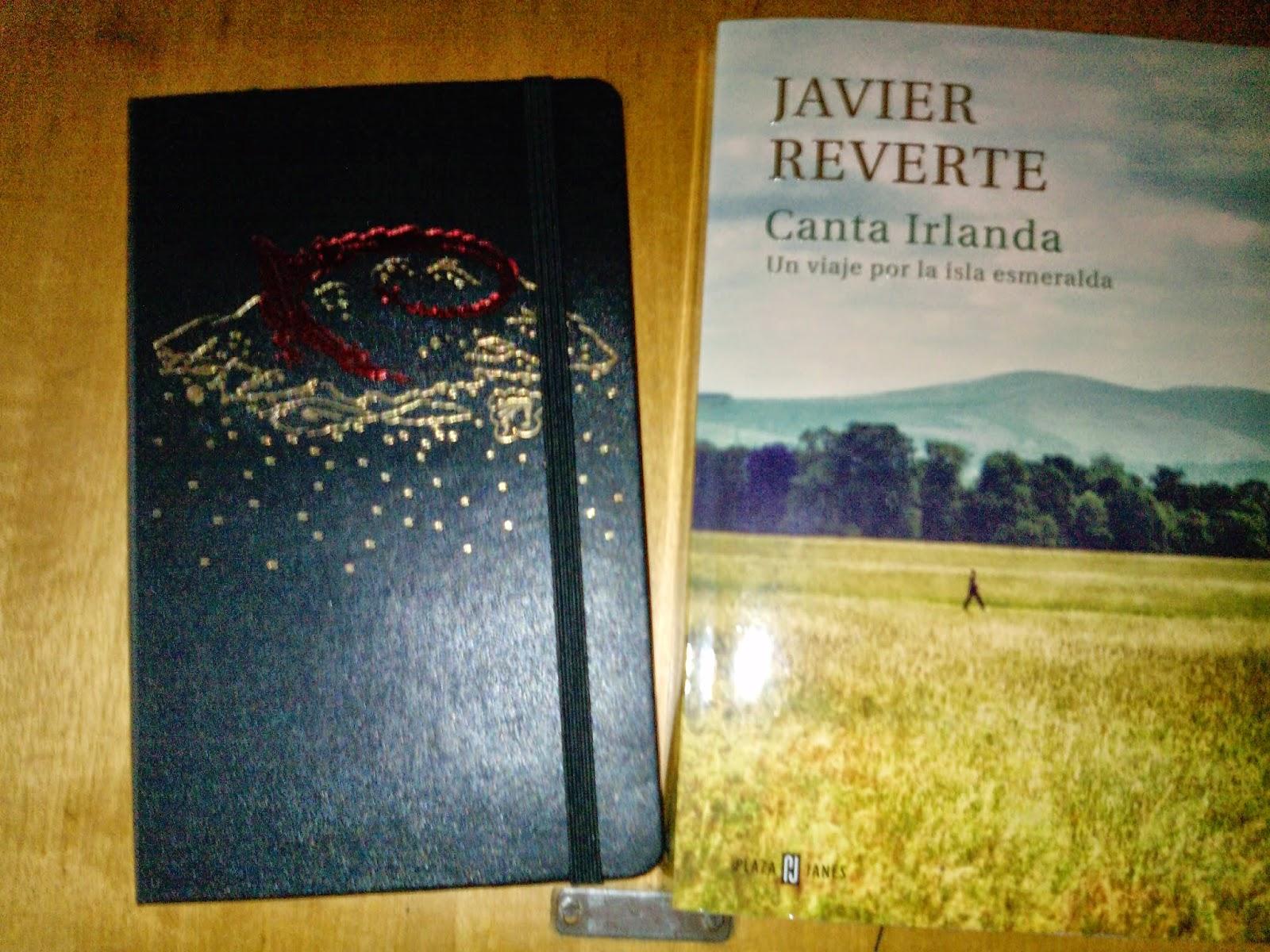 Cuaderno Moleskine de El hobbit y Canta a Irlanda de Javier Reverte