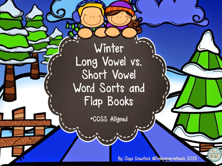 http://www.teacherspayteachers.com/Product/Winter-Theme-Long-Vowels-Vs-Short-Vowels-Word-Sorts-and-Flap-Books-1649752