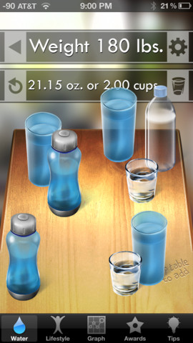 the water challenge using iphone apps to drink more water