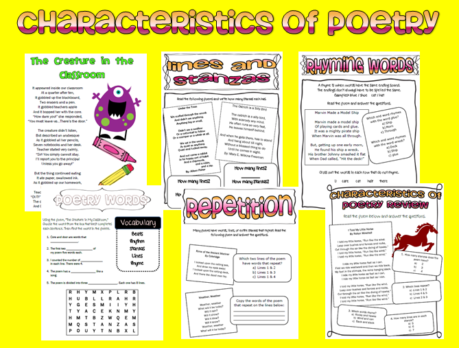 Elements Of Poetry Lesson Plan 4th Grade Semi Detailed Lesson Plan On Elements Of Poetryfourth