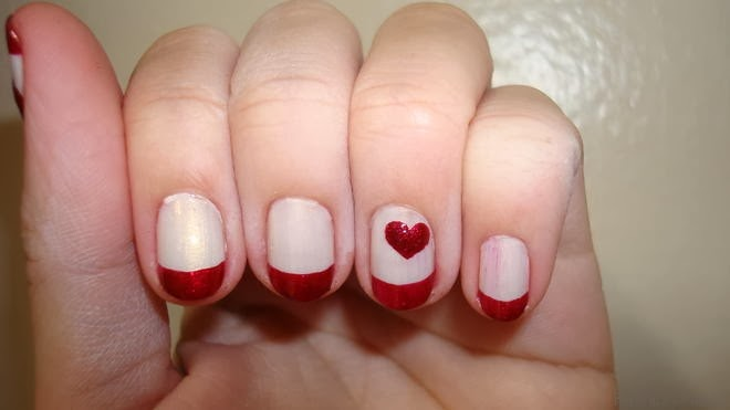 Valentines nail designs short nails gallery nail art and nail feminine modesty 5 simple valentine nails source prinsesfo gallery prinsesfo Images