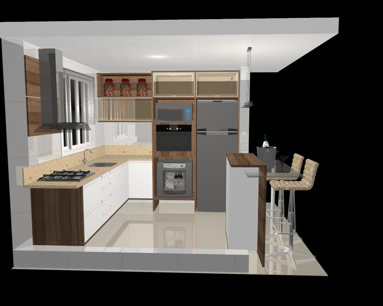 Estilo Casa & Decoração: Projeto dos móveis da cozinha #1279B9 1280 1024