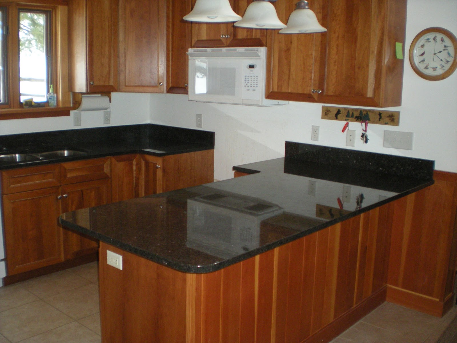 Dark Granite Countertops : ... progress, thoughts, stuff: A Mesabi Black Granite countertop install