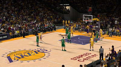 NBA 2K13 Lakers New Court Patch Update