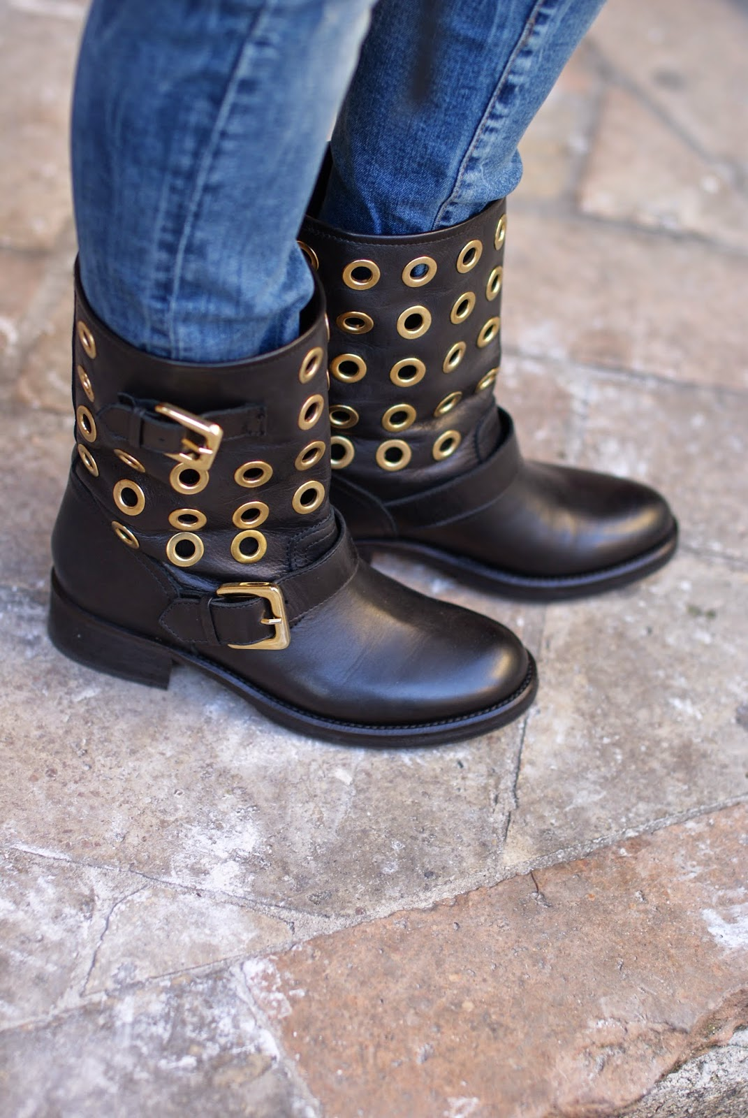 eyelets biker boots, Fashion and Cookies, fashion blogger