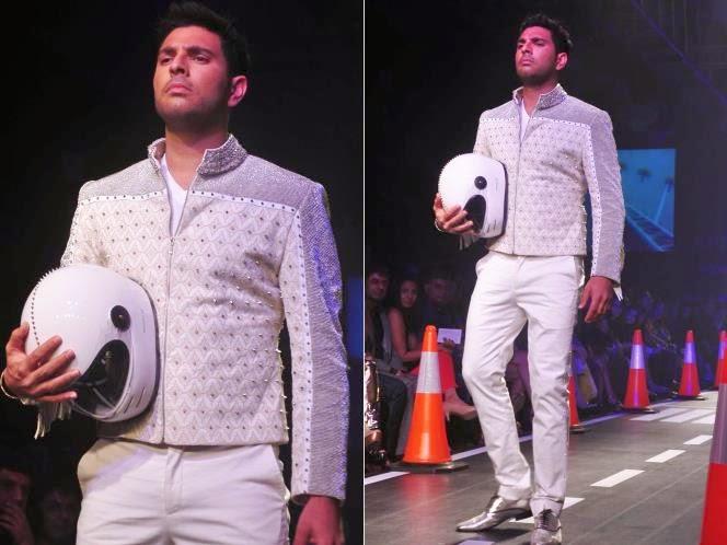 Yovraj singh in lakme fashion week 2014