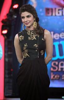 Priyanka Chopra on the sets of Bigg Boss to promote Krrish with Salman Khan