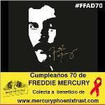 COLECTA EN CUMPLEAÑOS 70 DE FREDDIE MERCURY