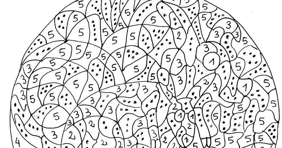 Maternelle coloriage magique maternelle un kangourou et - Coloriage magique son ...