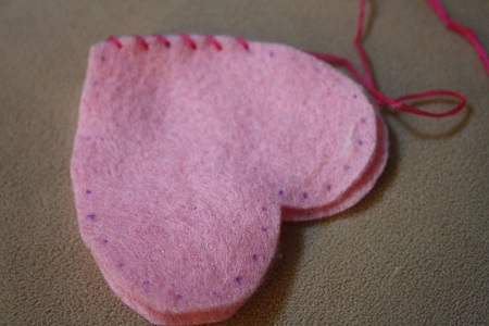 a heart pincushion 4 year old sewing project nurturing learning