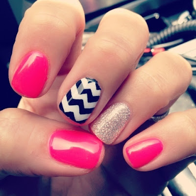 Awesome Pink Nail Art
