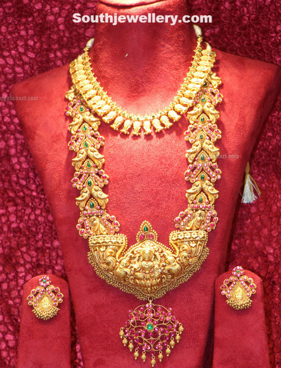 Latest gold necklace designs in grams pachi necklace latest jewellery - Temple Jewellery Set By Cmr Simple Temple Necklace