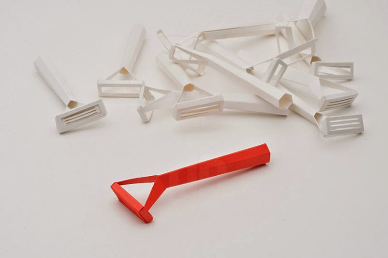 fabrica tus propias maquinillas de papel Paper Cut Razor