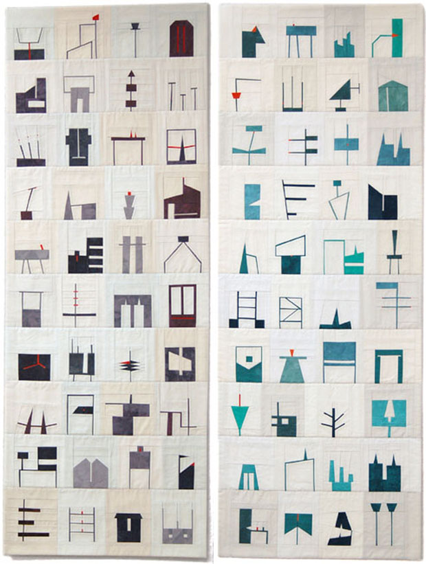 Erin Wilson, quilts,art, arte, shapes studies
